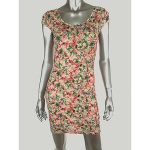 Free People Lace Sheath Bodycon Dress Small Floral